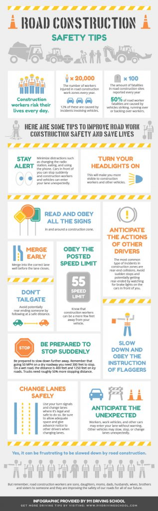 Road Construction Safety Infographic