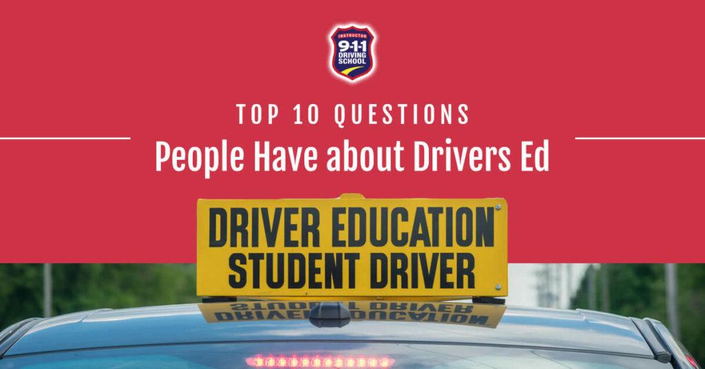 Driving school questions