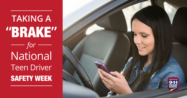 Taking a Brake for National Teen Driver Safety Week